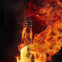 гитара в огне :: Виктория Симонова
