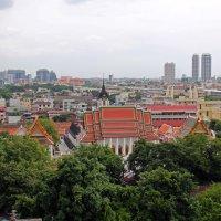 Бангкок. Вид с парапета храма на холме :: Владимир Шибинский