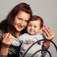 Костя и мама :: Валерия Стригунова