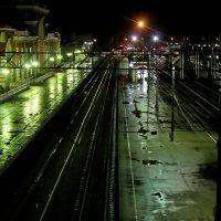 Вокзал ночью... :: Александр Герасенков