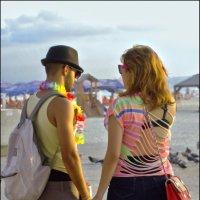 израильтяне...-на пляже (Ирeусалим)  в Тель Авиве :: Shmual Hava Retro