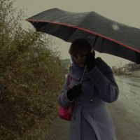 дождь идет на улице :: Юлия Мошкова