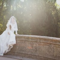 Свадьба. Мост в Пушкине :: Надежда Белянина