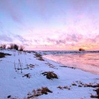 Над замерзшим озером...закат... :: Алексей Хаустов