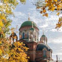 Храм в золоте осени. :: Николай Симусёв