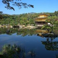 Открытка из Киото - знаменитый Золотой Павильон ( гармонически уравновешенный пейзаж 7-4) :: Sofia Rakitskaia