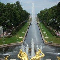 На фонтанах Петродворца :: Константин Жирнов
