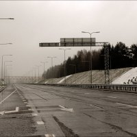 Первый снег на магистрале. 1 :: Виктор (victor-afinsky)