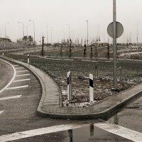 Первый снег на магистрале. 6. Перекрёсток. :: Виктор (victor-afinsky)