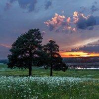Закат на Каринском озере :: Николай Андреев