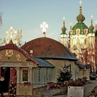Вечерний вид на Андреевскую церковь :: Ростислав