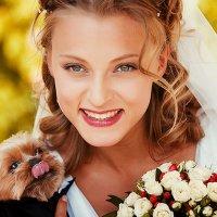 Портрет невесты с собачкой :: Виктор Бабинцев
