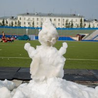 А я снеговик, летом. :: Роман Яшкин