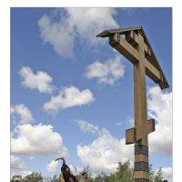 Освещение поклонного креста :: Евгений Гудименко