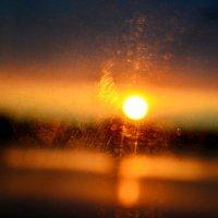Закат через окно поезда :: Евгений Лисниченко
