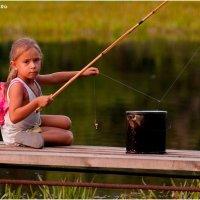 Маленькая фея на рыбалке :: Наталия Минеева-Жигарева
