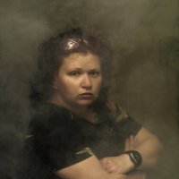 портрет в стиле эпохи возрождения-женщина с часами :: Shmual & Vika Retro