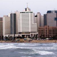 вид на Тель-Авив со Старого Яффо :: Shmual Hava Retro
