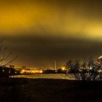 ночное небо над промышленной частью города. :: Dmitri_Krzhechkovski Кржечковски