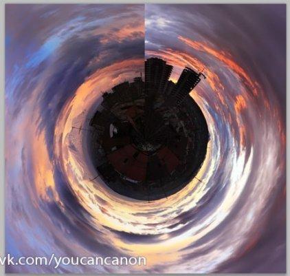 Как в фотошопе сделать сферическую панораму