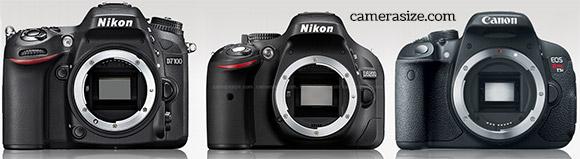 Сравнение фотоаппаратов Nikon D7100, Nikon D5200 и Canon EOS 700D