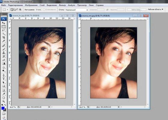 Урок Фотошопа. Выравнивание кожи лица для beauty фото