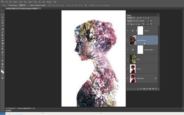 Создаем портреты с двойной экспозицией в Фотошопе