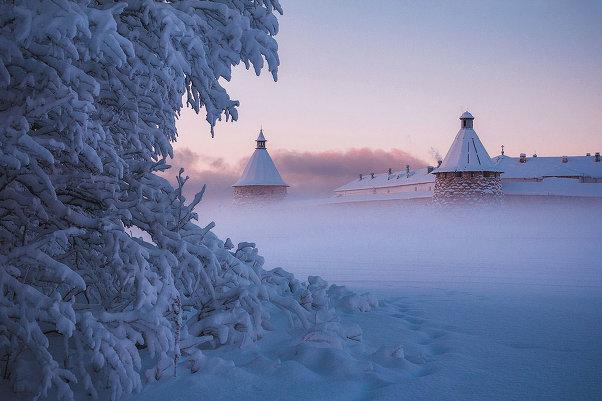 Надо съездить! Пейзажи России: те самые Соловки в зимних фотографиях