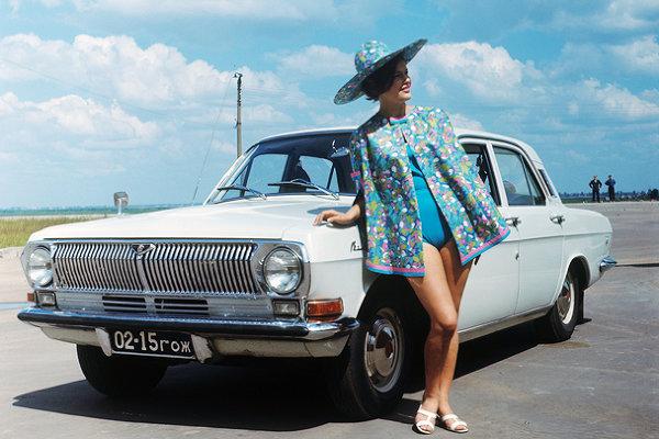 Советская фотореклама автомобиля «Волга» ГАЗ-24