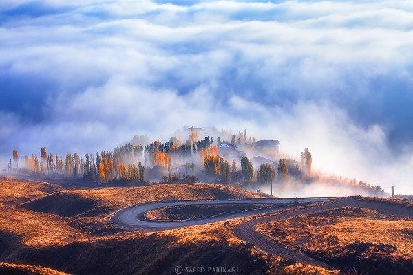 Природные пейзажи, укутанные туманом