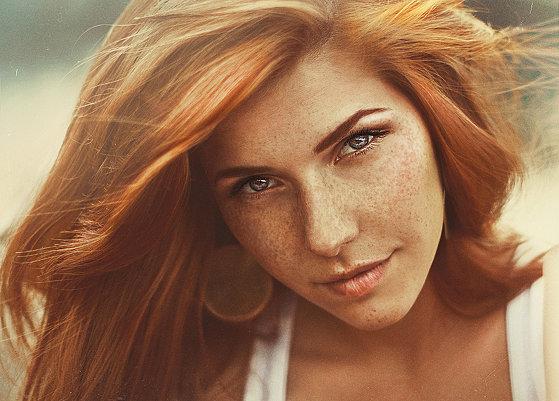Портреты с веснушками