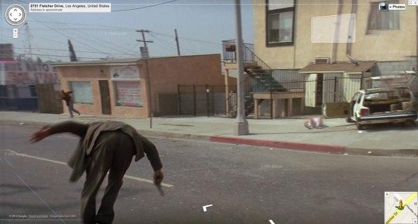 Реальные кадры из фильмов в google street view