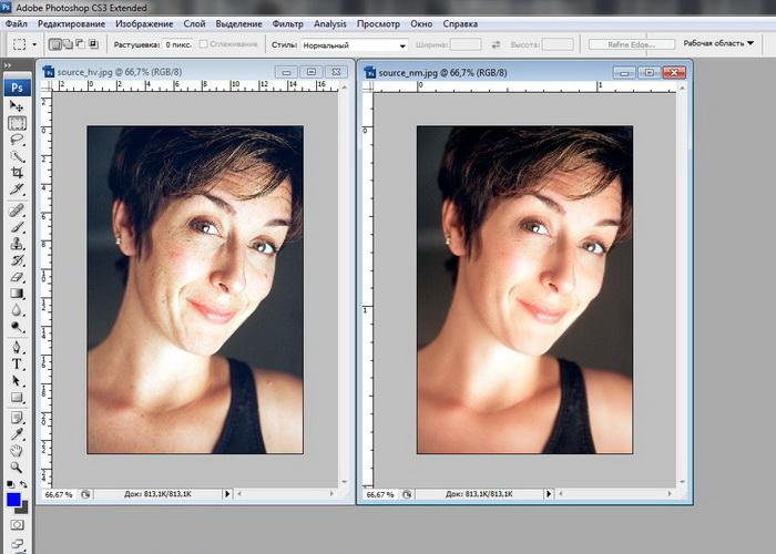 Как редактировать портретные вшопе
