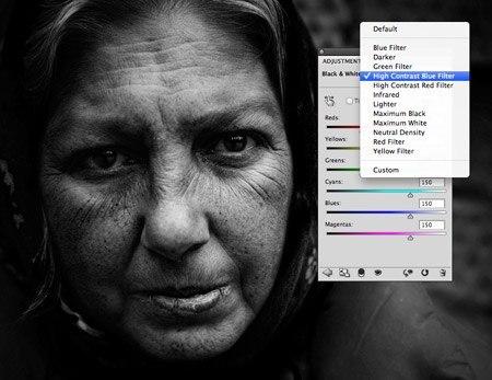 Как ф фотошопе сделать фото черно белым