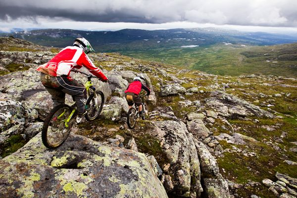 """Горный """"велопривет"""", Швеция, фото:Dan Barham"""