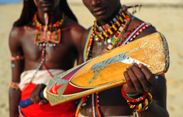 Игроки команды Масааи, фото:Carl De Souza