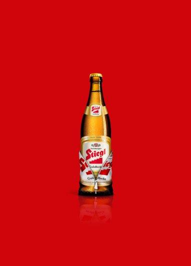 реклама пива с новой этикеткой Stiegl