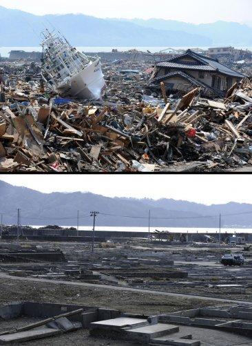 Цунами в Японии: пострадавшие районы. - №1
