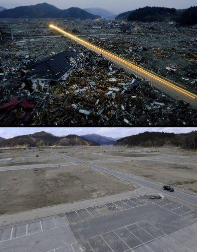 Цунами в Японии: пострадавшие районы. - №2