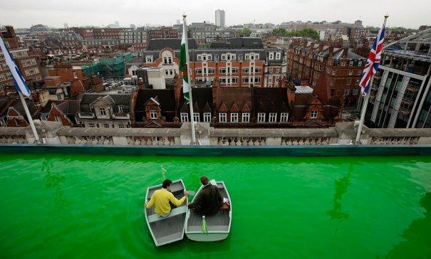 """""""Зеленые воды"""" над Лондоном , фото:Matthew Lloyd"""