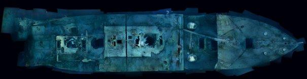 Не так давно впервые был сделан полный снимок Титаника сверху.