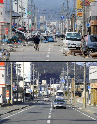 Цунами в Японии: пострадавшие районы. - №5