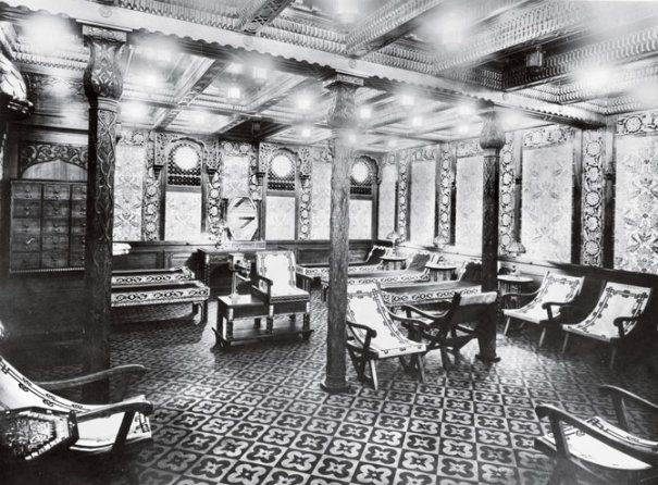 Зал отдыха Титаника,1912 год