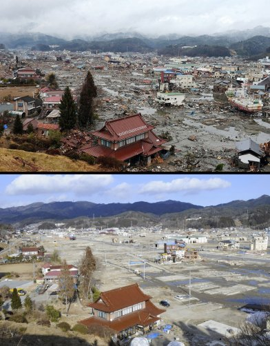 Цунами в Японии: пострадавшие районы. - №7