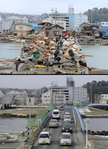 Цунами в Японии: пострадавшие районы. - №8