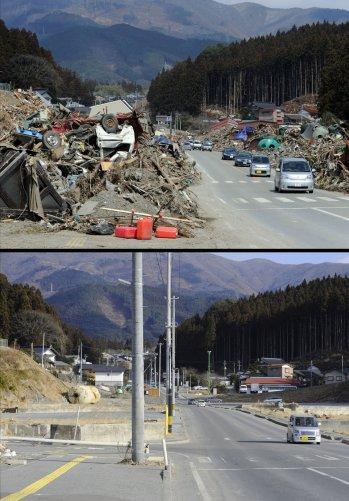 Цунами в Японии: пострадавшие районы. - №9