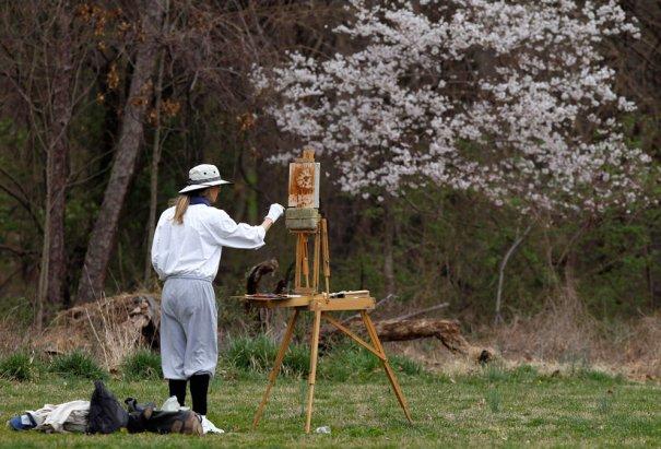 художница Жанет Франковик, Мэрилэнд (фото:Gary Cameron)
