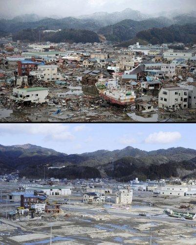 Цунами в Японии: пострадавшие районы. - №11