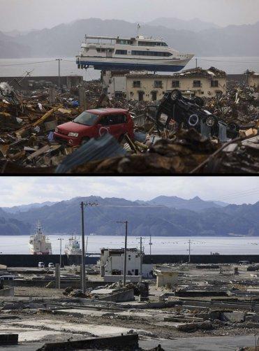 Цунами в Японии: пострадавшие районы. - №12