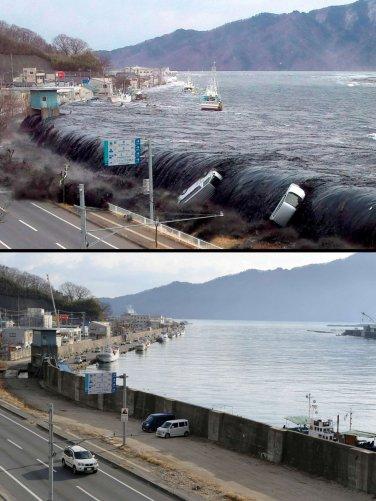 Цунами в Японии: пострадавшие районы. - №13